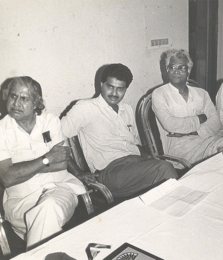 Cherian with George Fernades